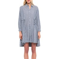 French Connection Tatus Stripe Drawstring Dress, Multi