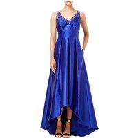 Adrianna Papell Mikado Illusion Dress, Neptune Blue