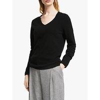 shop for John Lewis & Partners Cashmere Rib Trim V-Neck Sweater at Shopo