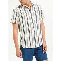 Samsoe & Samsoe Vento Contrast Stripe Short Sleeve Shirt, Clear Cream