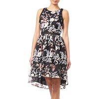 Adrianna Papell Halter Short Dress, Blush/Multi