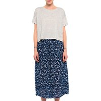French Connection Savana Sheer Culottes, Indigo/Blue Lobelia
