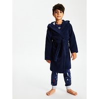 John Lewis and Partners Towelling Dressing Gown, Navy
