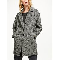 AND/OR Herringbone Coat, Black/White