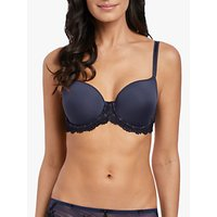 Wacoal Embrace Lace T-Shirt Bra, Folkstone Grey/Black