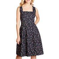 Yumi Retro Cherry Dress, Black
