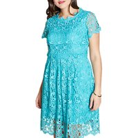 shop for Yumi Curves Guipure Lace Dress, Jade at Shopo