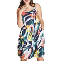 Yumi Curves Abstract Tropical Dress, Multi