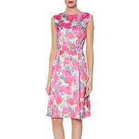 Gina Bacconi Odile Floral Satin Dress, Pink