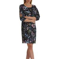 Betty & Co. Floral Print Crepe Dress, Blue/Purple