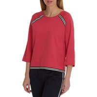 Betty & Co. Sporty Textured Top, Raspberry