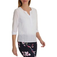 Betty Barclay Pure Cotton Textured Blouse, Bright White