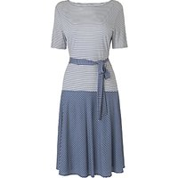 L.K.Bennett Emile Jersey Dress, Blue/Cream