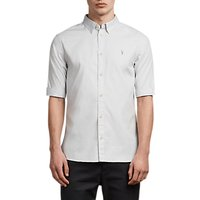 AllSaints Redondo Half Sleeve Shirt, Celest Blue