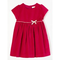 John Lewis & Partners Baby Velvet Party Dress, Red