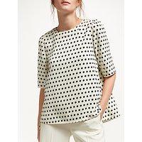 Marella Diadema Spot Print Blouse, Wool White