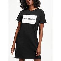 Calvin Klein Institutional Box Logo T-shirt Dress, Ck Black