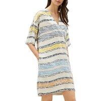 Jaeger Mosaic Stripe Dress, Multi