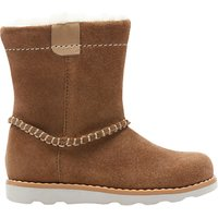 Clarks Children's Pre School Crown Piper Leather Boots, Tan
