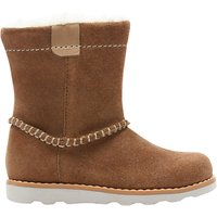 Clarks Children's Crown Piper Leather Boots, Tan