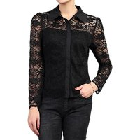Jolie Moi Long Sleeve Lace Shirt