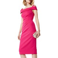 Karen Millen Bardot Neck Tailored Dress, Fuchsia