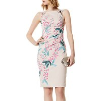 Karen Millen Wisteria Floral Print Signature Dress, Multi