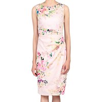 Jolie Moi Floral Sleeveless Ruched Dress