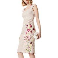 Karen Millen Bouquet Floral On Lace Dress, Nude