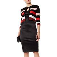 Karen Millen Colour Block Cardigan, Red/Multi