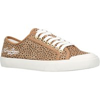 KG by Kurt Geiger Levvy Lace Up Trainers, Tan Suede