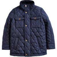 Little Joule Boys Stafford Quilted Jacket, Navy