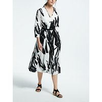 Weekend MaxMara Brush Stroke Print Dress, White/Black