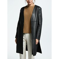 Weekend MaxMara Leather Duster Coat, Black