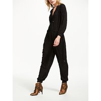And/or Metallic Detail Jumpsuit, Black