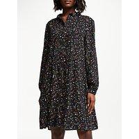 Collection WEEKEND by John Lewis Harlequin Star Shirt Dress, Black/Multi