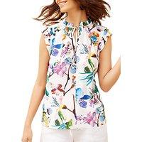 Fenn Wright Manson Zanzibar Floral Print Top, White/Multi