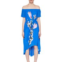 Ted Baker Melma Harmony Pleated Maxi Dress, Bright Blue