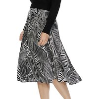 Brora Graphic Print Midi Skirt, Monochrome