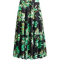 Lauren Ralph Lauren Oretha Fern Print Skirt, Black/Multi