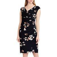 Lauren Ralph Lauren Valli Floral Print Jersey Dress, Lighthouse Navy/Taupe