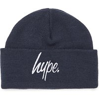 Hype Boys' Script Beanie Hat, Navy