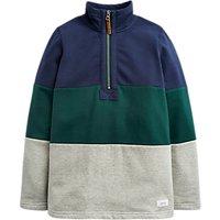 Little Joule Boys' Dale Half Zip Sweatshirt, Green
