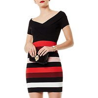 Karen Millen Colourblock Bandage Dress, Black