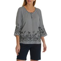 Betty Barclay Embroidered Blouse, Blue/Cream