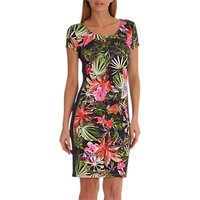 Betty Barclay Floral Print Dress, Dark Blue