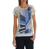 Betty Barclay Textured Print Top, Blue/Cream