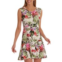 Betty Barclay Floral Print Dress, Cream/Red