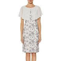Gina Bacconi Pollyanna Embroidered Dress And Cape, Navy/Cream