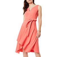Karen Millen Fluid Day Dress, Coral